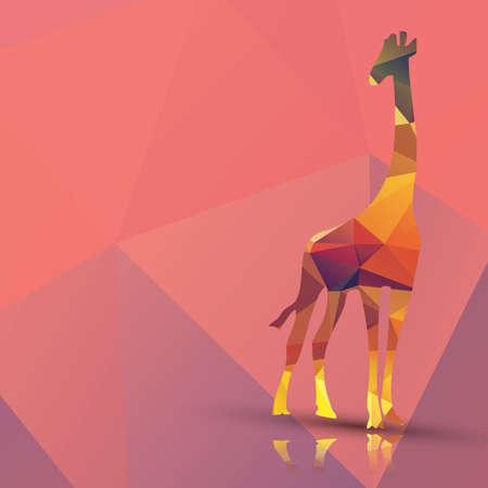 Geometrische veelhoekig giraffe patroon ontwerp