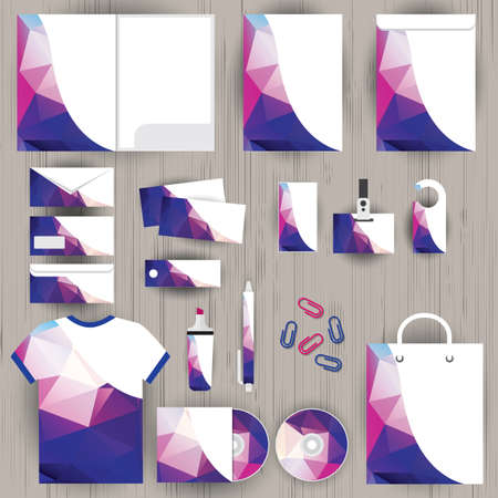 card file: Vector corporate identity
