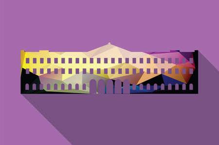 buckingham palace: World landmark, Buckingham Palace, London, UK, Europe, vector illustration Illustration
