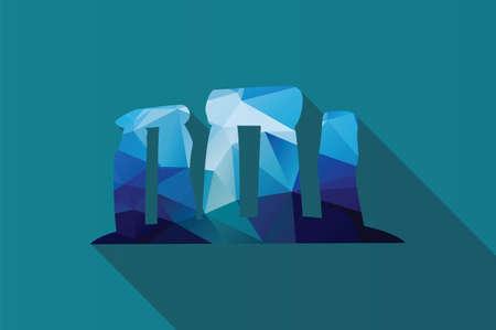 stonehenge: World landmark, Stonehenge, English country, Wiltshire, UK, Europe, vector illustration Illustration