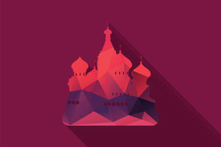 st basil s cathedral: World landmark, St Basil s Cathedral, Moscow, Russia, vector illustration