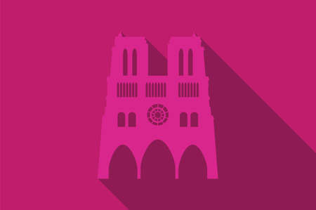 notre: World landmark, The Notre-dame, Paris, France, Europe, vector illustration