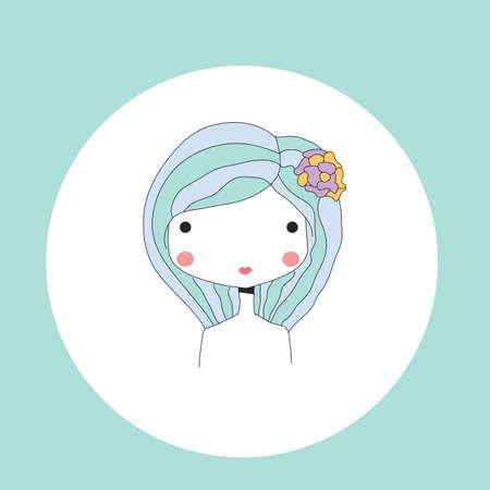 prognosis: Horoscope Virgo sign, girl head, vector illustratio