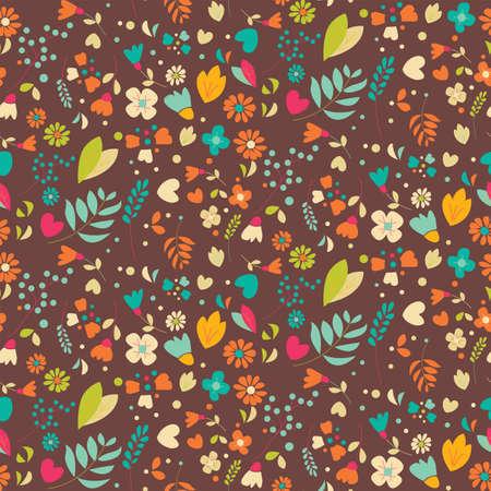 Bohemian de hand getekende bloemen, seamlss patroon, vector illustratie