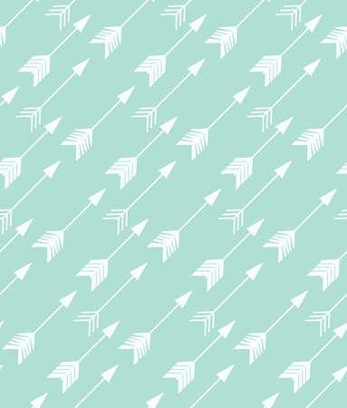 Bohemian de hand getekend pijlen, naadloze patroon, vector illustratie Stockfoto - 44850425