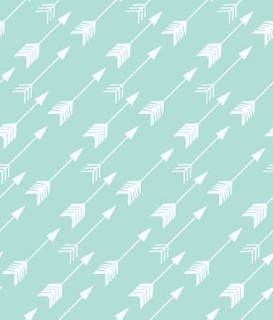 ornamental design: Bohemian hand drawn arrows, seamless pattern, vector illustration