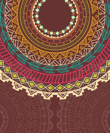 Etnische Aztec cirkel ornament, vector illustratie