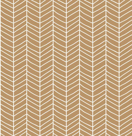 brown pattern: Seamless pattern with hand drawn chevron line grid, vector illustration
