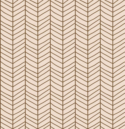 rough: Seamless pattern with hand drawn chevron line grid, vector illustration