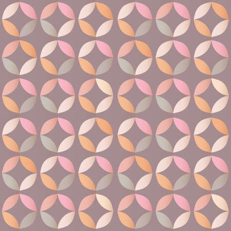 retro circles: Geometric seamless pattern with colorful circles in retro design, vector illustration