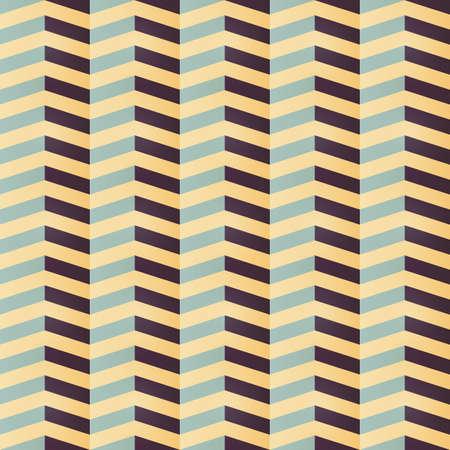 Geometrische naadloze chevron patroon in retro kleuren, vectorillustratie