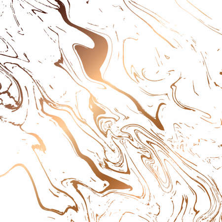 Liquid marble texture design, colorful marbling surface, white and gold, vibrant abstract paint design, vector illustration