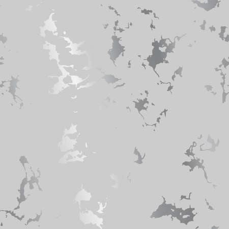 Silver splatter spots on gray, modern luxurious background, vector illustration Vectores