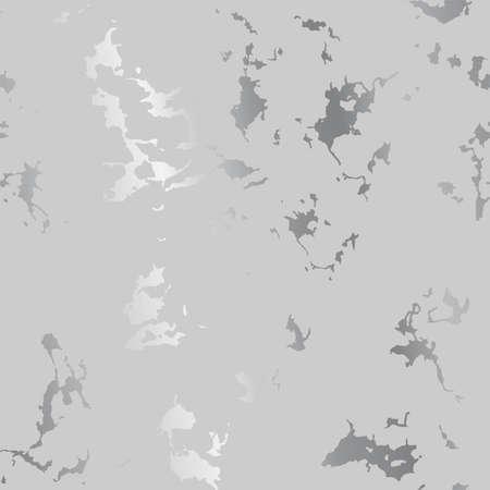 Silberne Spritzerflecken auf grauem, modernem luxuriösem Hintergrund, Vektorillustration