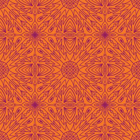 Geometric symmetrical seamless pattern, vector illustration