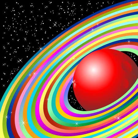 Planet with ellipse Illustration