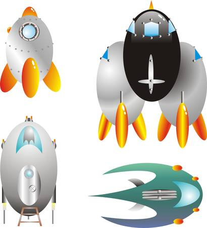 humoristic: naves espaciales de dibujos animados