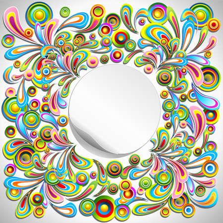 circulos concentricos: resumen de dise�o de etiquetas de color