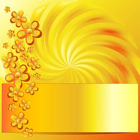 golden daisy: Sello de Oro floral Vectores