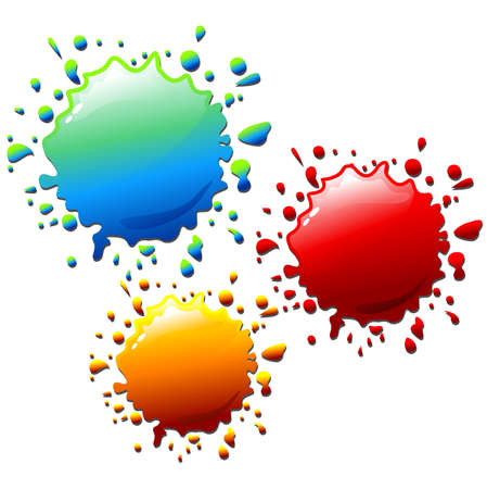 Ink Splat Colors Stock Vector - 13778612