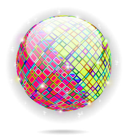 Psychedelic Crystal Globe Icon  Stock Vector - 13801923