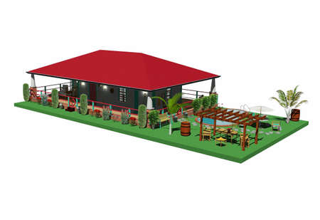 creole house architecture 3d