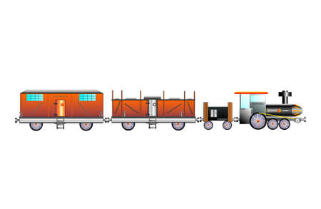 cargo train Stock Vector - 13862406