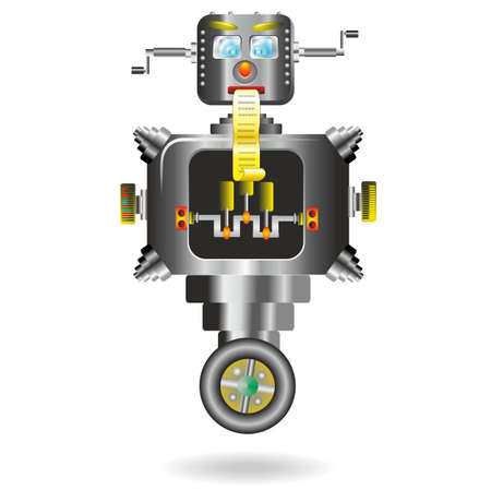 computer cartoon: Robots Computer Cartoon