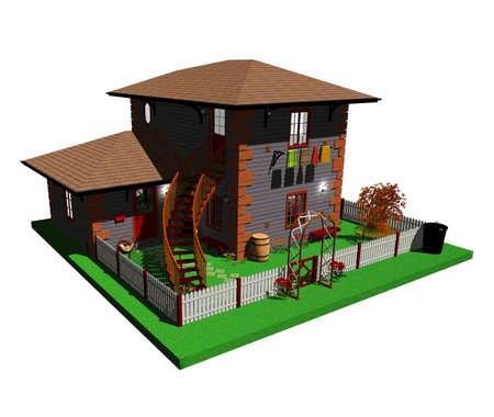Cottage 3d Architecture