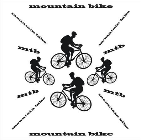 mountain bike white background Illustration