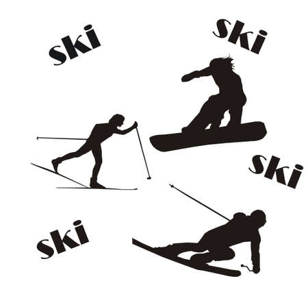 ski Vektorové ilustrace
