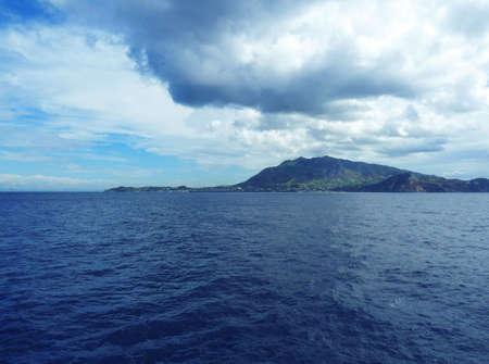 Stormy seascape on Ischia Naples Italy Stock Photo