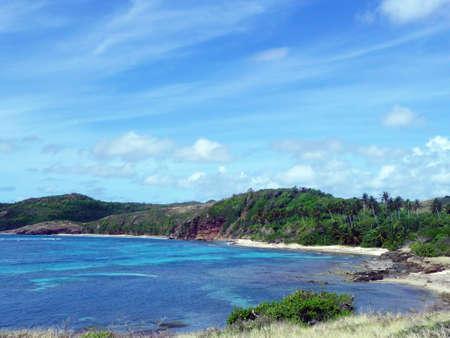 Wild Caribbean Beach in Martinique Atlantic Side Stock Photo