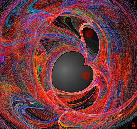 Heart love-Valentine s day-Fractal Stock Photo - 16606096