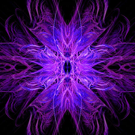 Purple and Pink Explosion Flame Fractal Art