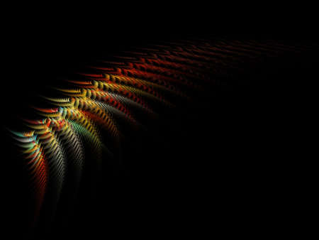 Psychedelic feather abstrac fractal art Stock Photo - 17042799