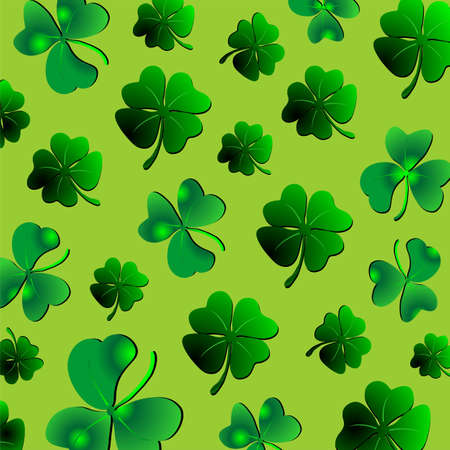 Green clover and shamrock Pattern St Patrick Stock Vector - 17042673