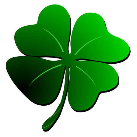 St Patrick s shamrock clover design
