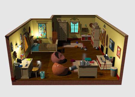 3d baby room decor