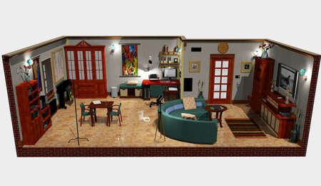 office studio,3d computer graphics