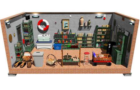 Cellar basement 3d computer design