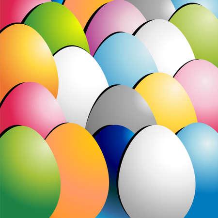 Colored Easter eggs pattern background Illustration
