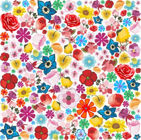 lilium: Spring Flowers Pattern