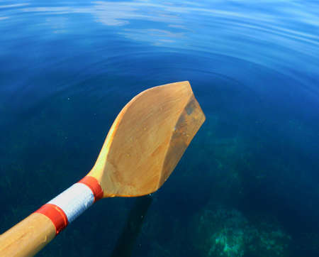 Oar Paddle on Sea Water Stock Photo - 20936833