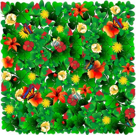 flowery meadow Illustration