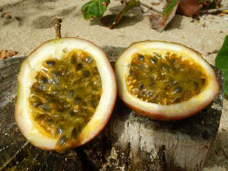 Passion fruit tropical fruit