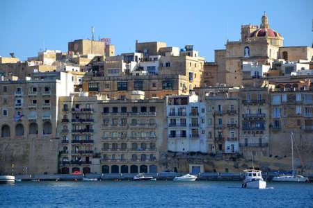 Malta  houses on the sea Stock Photo