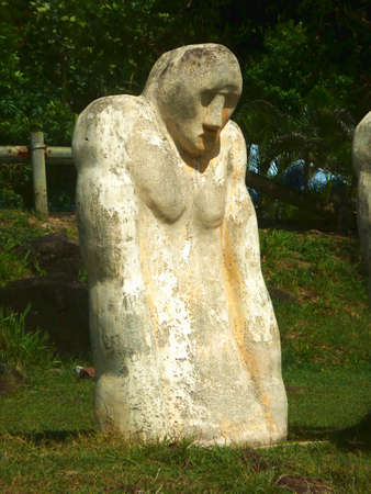 metaphoric: commemorative statue on the tragedy of slavery