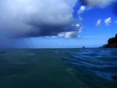 paysage marin: Paysage marin orageux