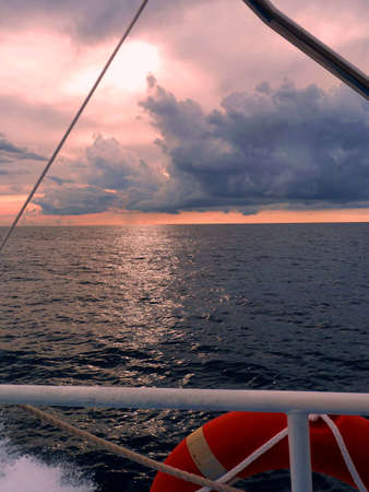 Offshore sailing Stock Photo